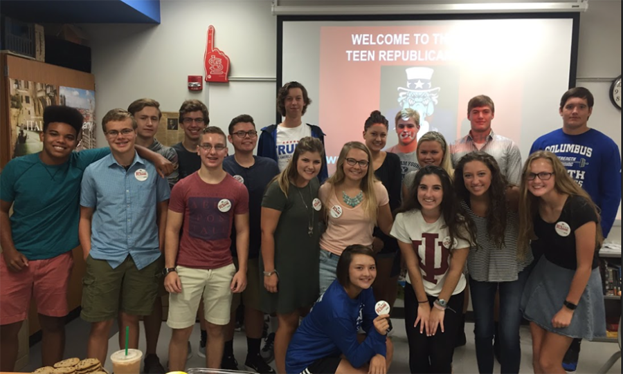 CNHS Republicans Club members at their first meeting of the year.
