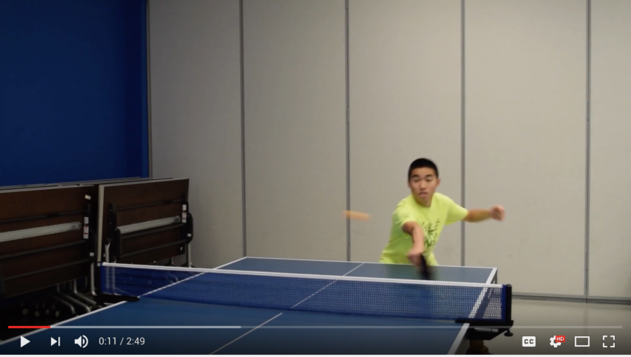 Table tennis video feature