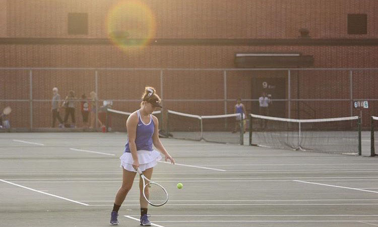 Girls Tennis Team to Play Last Home Match Against Silver Creek HS