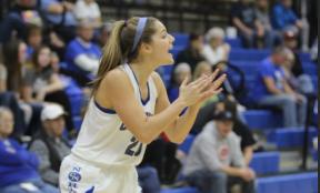 Senior Kelsey Patberg focuses on playing offense.